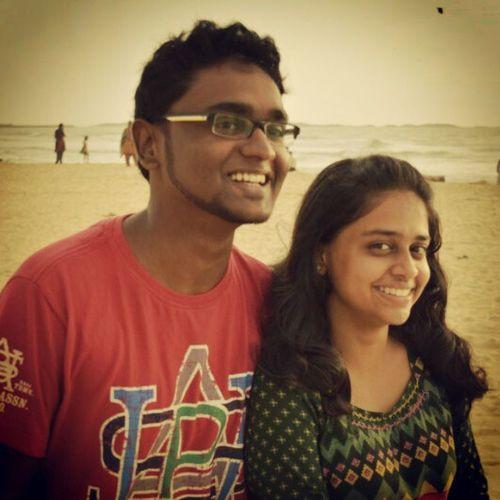 Beach Sand Fun Bestmates red green sunset windy Love u ! :* :) @tinadsouza_