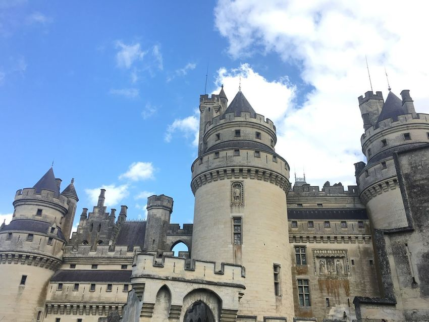 Castle of Pierrefonds Architecture Castle Castleofpierrefonds History Sky Day No People Oise