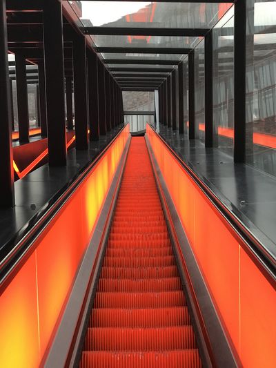 Architecture Direction Transportation The Way Forward Indoors  Public Transportation Illuminated Empty Railing Diminishing Perspective Rail Transportation No People Convenience Escalator Built Structure Subway Station Modern Steps And Staircases Mode Of Transportation Staircase Moving Walkway  Ceiling
