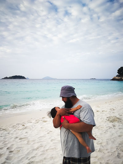 pulau redang, malaysia Sea Land Beach Water Sky One Person Leisure Activity Real People Scenics - Nature Beauty In Nature Lifestyles Standing Nature Horizon Sand Casual Clothing Non-urban Scene Day Horizon Over Water Outdoors
