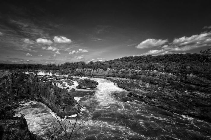 Nature Scenics Outdoors Beauty In Nature Landscape Backgrounds Nature Photography Nature_collection Black And White Blackandwhite Black & White Great Falls, Maryland Greatfallspark Day Nature No People
