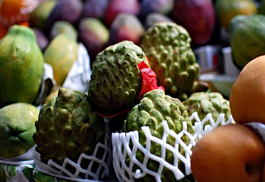 Sugar Apple Brussels Sprout Close-up Day Food Food And Drink Freshness Fruit Green Color Healthy Eating Indoors  No People Sugarapple Vegetable Food Stories