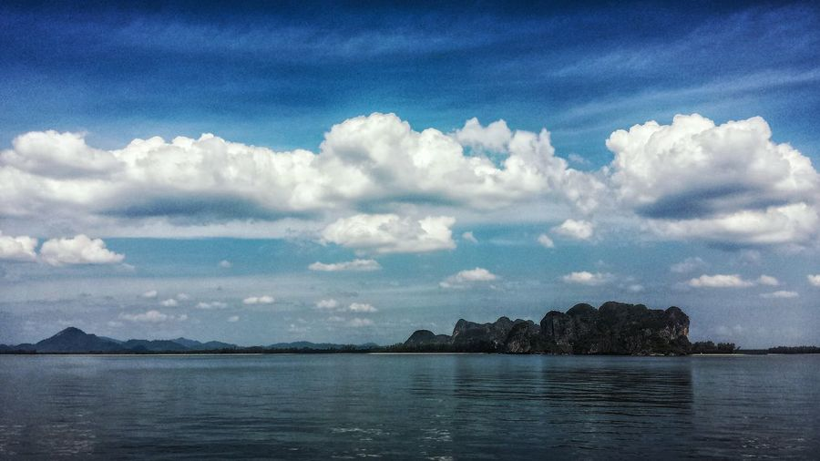 Thailand Andaman Sea ASIA Afternoon Southeast Asia Outdoors Landscape Southern Thailand Trang Island Blue Sky Clouds Ocean Seascape Trang Province Spotted In Thailand