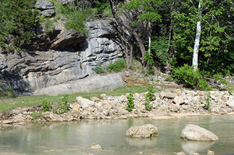Turner Falls, Oklahoma Beauty In Nature Day Environment Flowing Flowing Water Forest Land Nature No People Non-urban Scene Outdoors Plant River Rock Rock - Object Rock Formation Scenics - Nature Solid Tranquil Scene Tranquility Tree Water