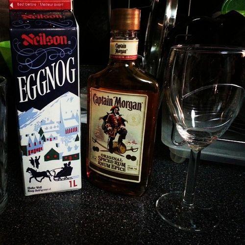 My night. SoDelish SpicedRumWithEggNog ChristmasDrink QuietNightIn