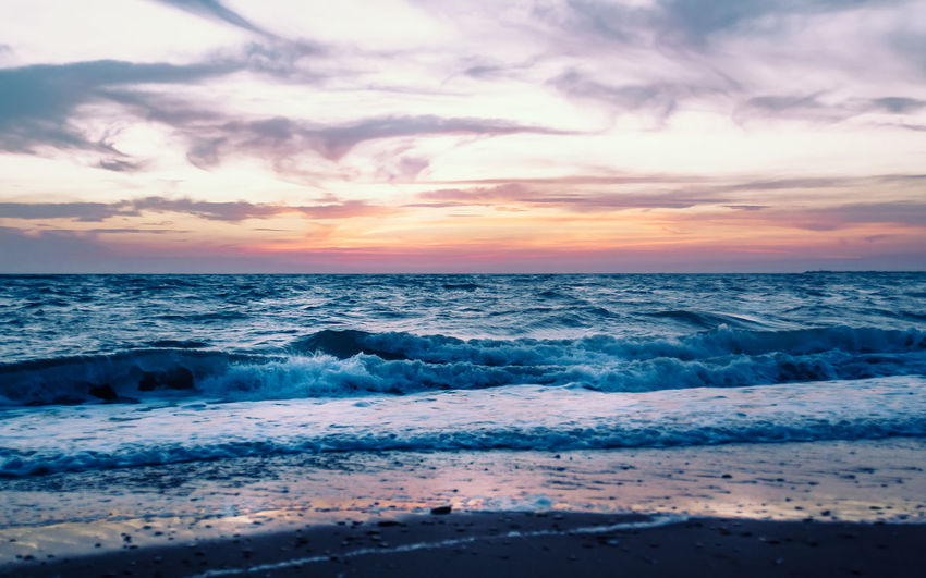 Sicilian sea at sunset Landscape_Collection Seascape Photography Stripes Summer Views Summertime Sunset_collection Beach Beauty In Nature Cloud - Sky Horizon Over Water Idyllic Landscape_photography Nature No People Outdoors Scenics Sea Seascape Sunset Tranquil Scene Tranquility Wave