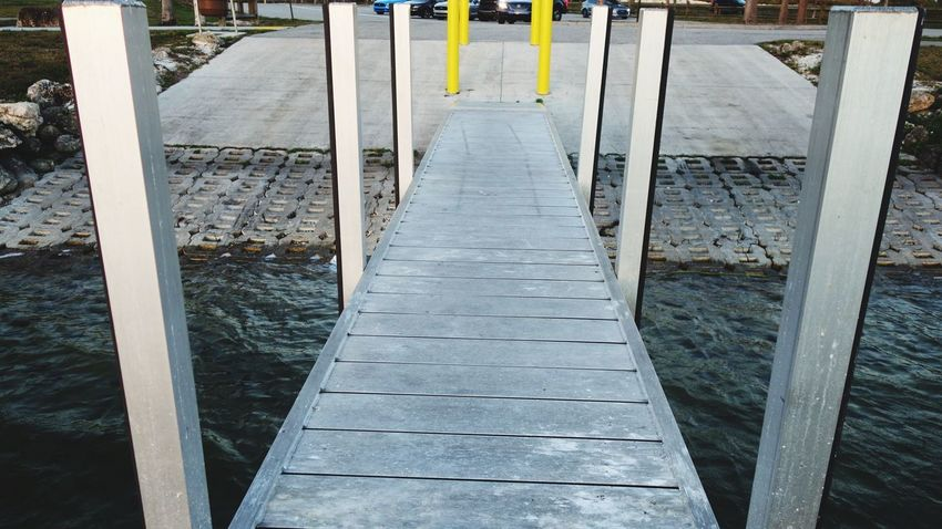 Built Over Water Water Pier Built Metal Lakeshore Boat Ramp Dock Wood - Material No People Day Outdoors Close-up