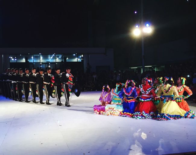 Large Group Of People Men Person Lifestyles Spectator Crowd Full Length Celebration Illuminated Street Leisure Activity Performance Togetherness Night Mexican Culture Baile Folklore Baile Folclórico Mexicolors Mexico Mexican Folklor Multi Colored Dancing Enjoyment Performer