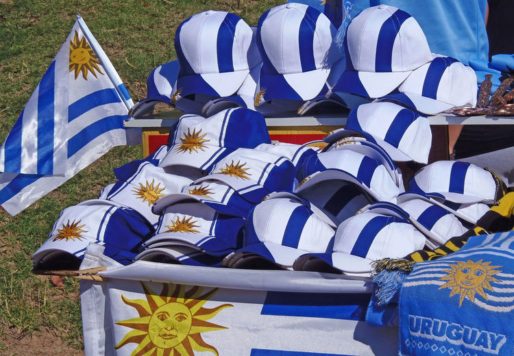 Montevideo,Uruguay Baseball Caps Blue Day Flag Football Game Memorial Nature No People Outdoors Patriotism Soccer⚽ Uruguay Flag