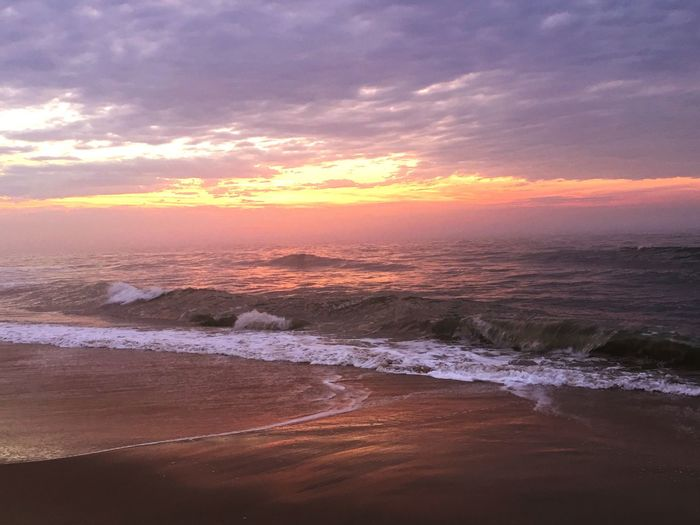 Sunrise on the Beach Beachphotography Sunrise Beach Beachlife Sunrise OCMD Sunrise Over Water Sunrise Over The Ocean Sunrise On The Beach First Eyeem Photo EyeEm Selects