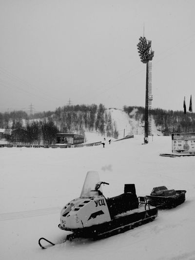 "Russian Snowmobile in ""Долина Уюта"" in Murmansk. Snow Monochrome Blackandwhite Sports Photography Black & White B&w B&W Collection"
