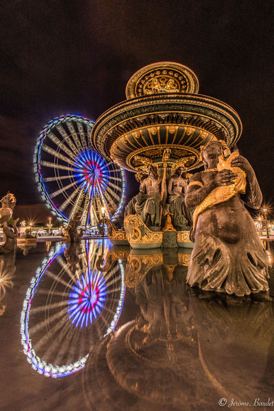 Grande Roue Paris Paris, France  Reflection Fontaine Grande Roue De Paris Longexposure Longexposurephotography Streetphotography