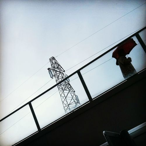 Architecture Built Structure Building Exterior Sky Clear Sky Day Outdoors Industry Power Line  Cable Rain Rainy Days Umberella