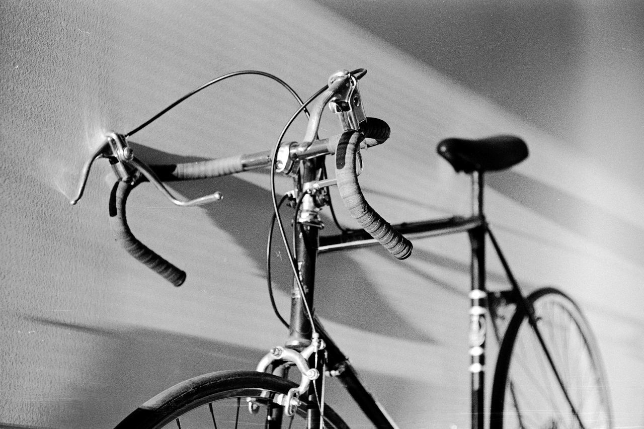 Bicycle by building