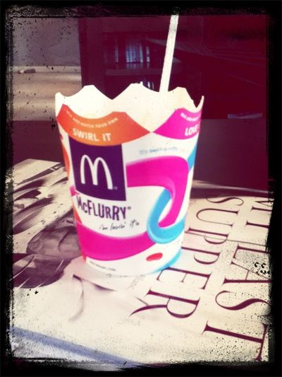 Enjoying life with my McFlurry