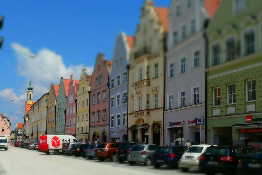 Building Exterior Street City Architecture Outdoors Landshut Landshut, Germany Photography Photooftheday Paint The Town Yellow