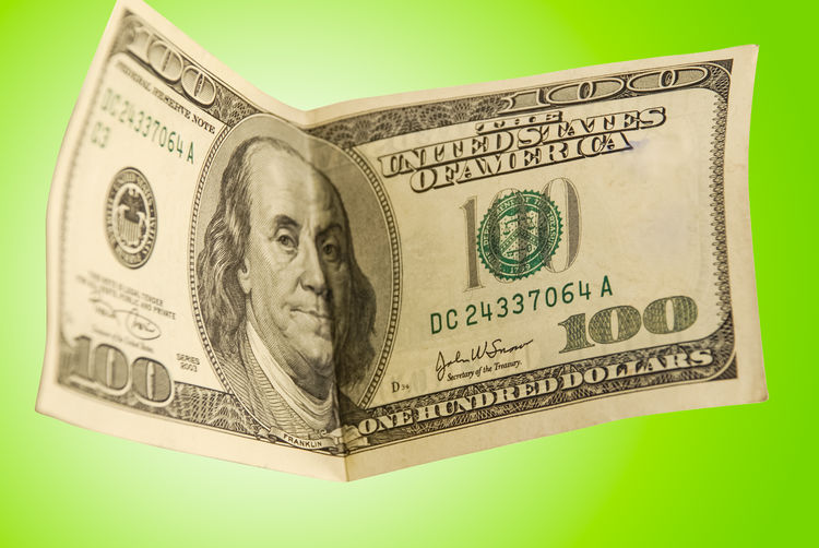 Currency Paper Currency Finance Business Studio Shot Representation Wealth Green Color Human Representation Indoors  Close-up No People Single Object Number Still Life Colored Background Economy