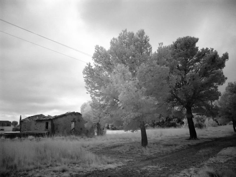 Abandoned House Architecture Built Structure Cloud - Sky Day Infrared Photography Nature Sky