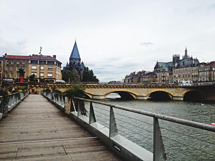Taking Photos Visiting Metz, France River