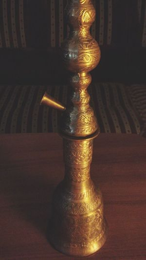 Breathing Space After Dark No People Close-up Indoors  Hookah Turkish Delights Golden Pattern
