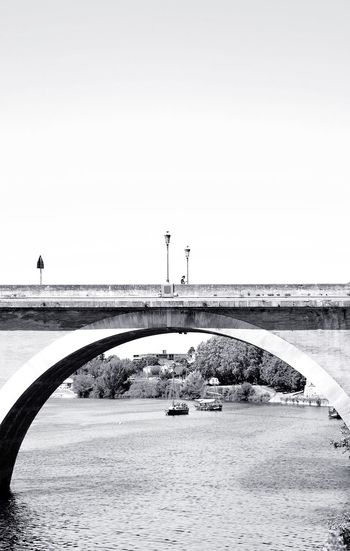 Under and on the bridge Copy Space Clear Sky Water Calm Sea Waterfront Tranquility Bridge - Man Made Structure Tranquil Scene Ocean Scenics Nature Engineering Day Remote Solitude Beauty In Nature Shore Non-urban Scene Horizon Photooftheweek Photooftheday Boats Woman Bridge