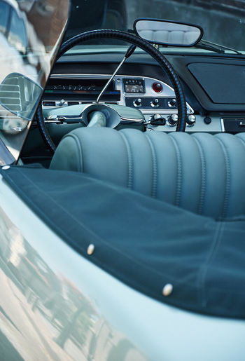 Beautiful classic citroen Classic Car Car Car Interior Close-up Control Panel Dashboard Day Glass - Material Indoors  Land Vehicle Luxury Mode Of Transportation Motor Vehicle No People Road Trip Selective Focus Steering Wheel Transparent Transportation Travel Vehicle Interior Vehicle Seat Windshield