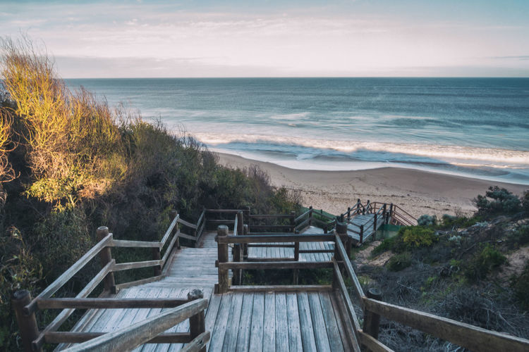 Heading to the beach. Australia Australian Landscape Beach Beauty In Nature Cliff Day Empty Horizon Over Water Landscape Leading Lines Nature No People Outdoors Railing Scenics Sea Sky Steps Tree Water Wooden Steps