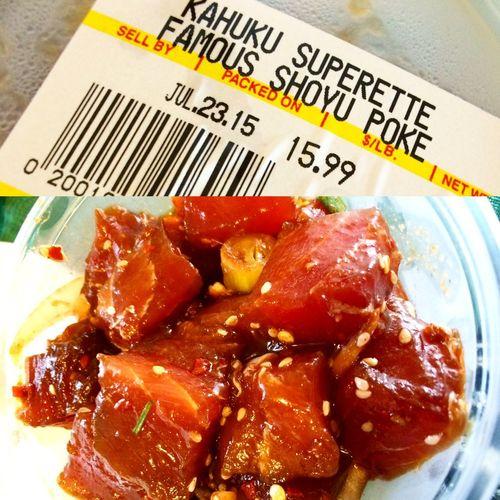 Poke Seafood Hawaiian Style 808  Kahuku Superette Oahu