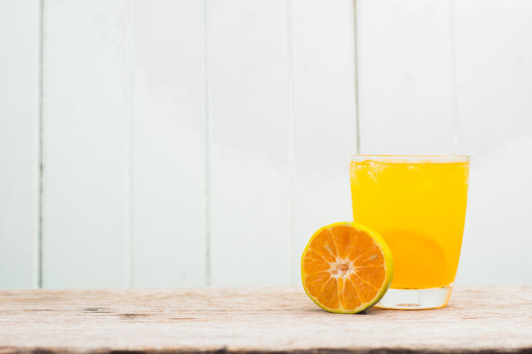Blood Orange Citrus Fruit Close-up Copy Space Day Drink Drinking Glass Food Food And Drink Freshness Fruit Healthy Eating Indoors  No People Orange - Fruit Refreshment SLICE Table Yellow