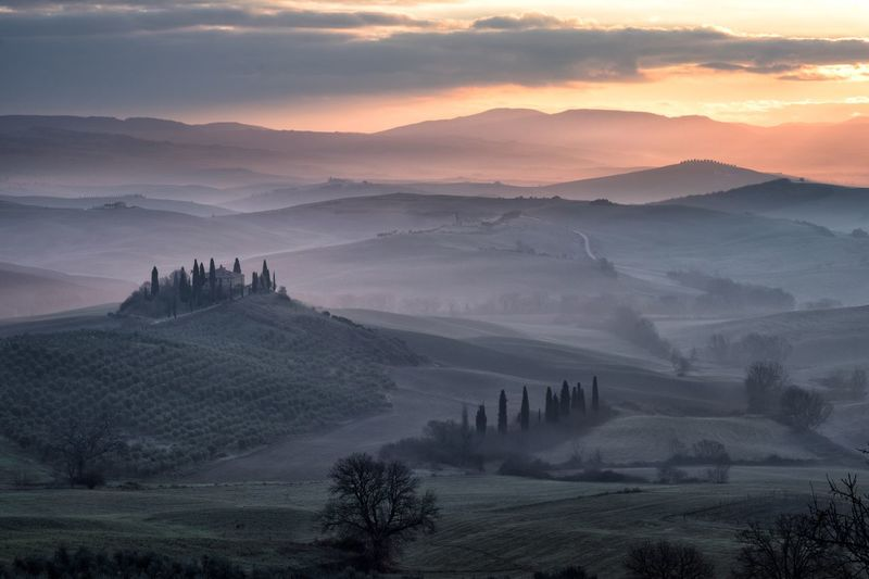 Tuscany's colours Alba Sunrise Siena Belvedere Italia Italy Environment Landscape Fog Scenics - Nature Architecture Travel Destinations Beauty In Nature Nature Sky Cloud - Sky Travel Tranquility No People Plant