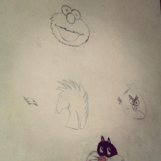 Drawing Animation Cartoon Mywall angrybird elmo horse pencil eagle home myroom