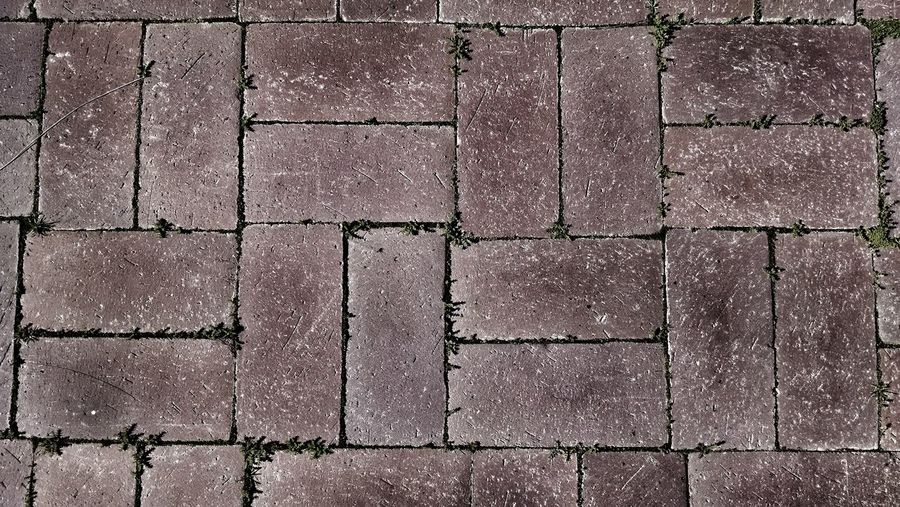 Full frame shot of paved walkway