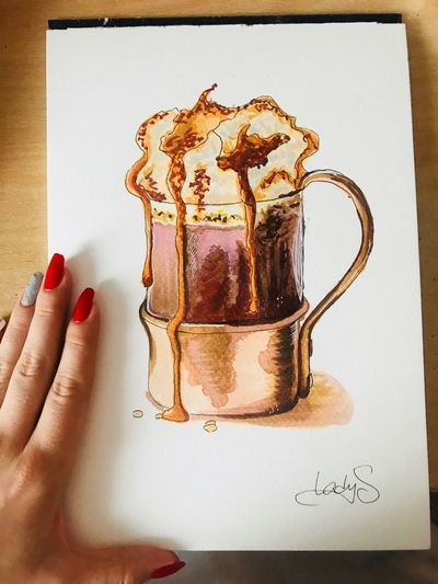 Colorful Creativity Sketchbook Drawing Art Sketch EyeEm Selects Hand Human Hand Finger Human Body Part Indoors  Food And Drink International Women's Day 2019