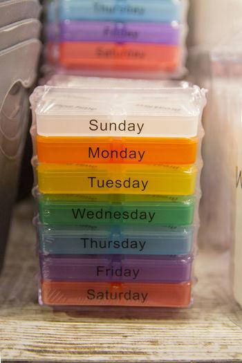 Colors Pills Pillsbury Focus On Foreground Indoors  No People Number Pill Table Text Week Week Of Eyeem Weekend Activities