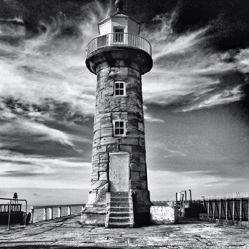 Black And White Photo Lighthouse