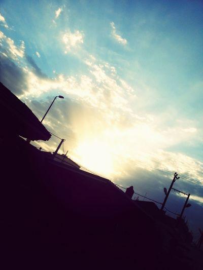 جمال غروب الشمس تصويري