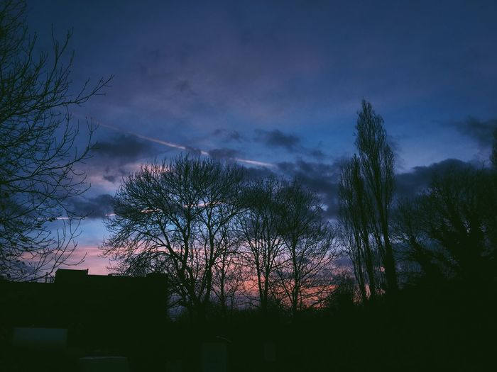 A night to remember Winter Night Tree Sky Dusk Nature No People Cloud - Sky Bare Tree Low Angle View Beauty In Nature House Outdoors Dark Tranquility Storm Cloud Scenics Branch Lightning First Eyeem Photo The Secret Spaces