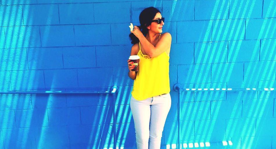 Yellows. Blues. Sunday's. Colorful San Francisco