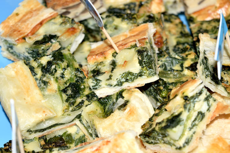 Cake Cheese! Crispy Finger Food Green Color Homemade Pastry Pie Puff Quiche SLICE Snack Spanakopita Spinach