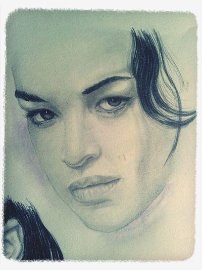 Art Portrait Michelle Rodriquez Drawing