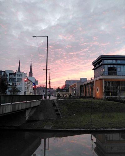 Sunset Sky Békéscsaba Cities At Night