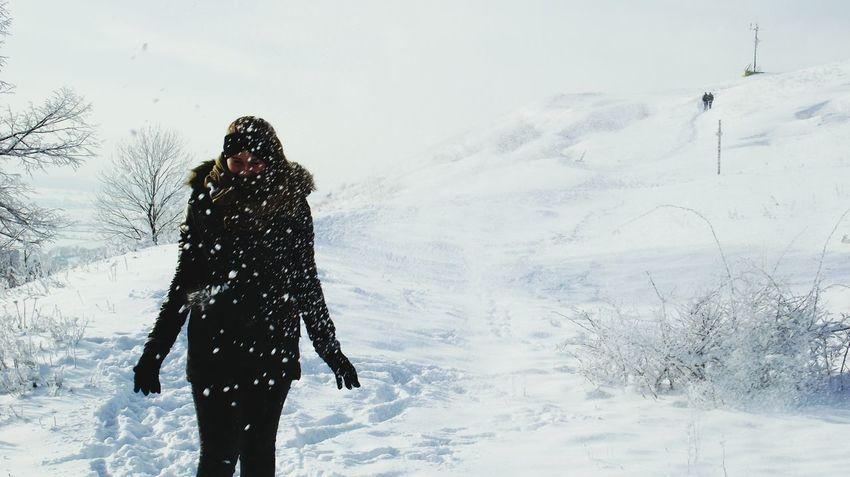 Snow Enjoying Life Taking Photos Hello World