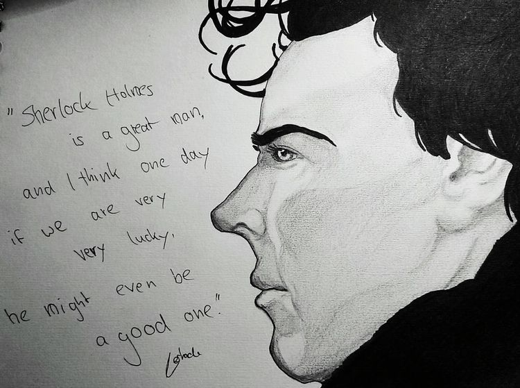 Words Of Wisdom... Monochrome Sherlockbbc Sherlock Sherlock Holmes ArtWork Sherlocked My Hobby :) Art, Drawing, Creativity This Is My Art!!!