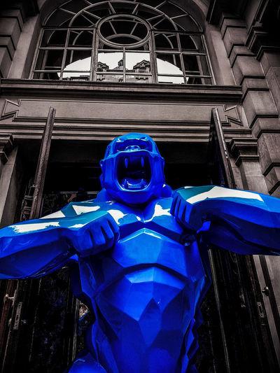 Kong Fresh On Eyeem  Nicholas Nelson Lampwick London Street Photography Sculpture King Kong Blue Creative Photography EyeEm Gallery Xavier Veilhan