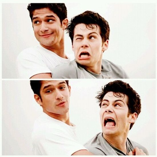 Bff Brothers Funny LOL! Scott Teen Wolf Stiles Tyler Posey Dylan O'Brien