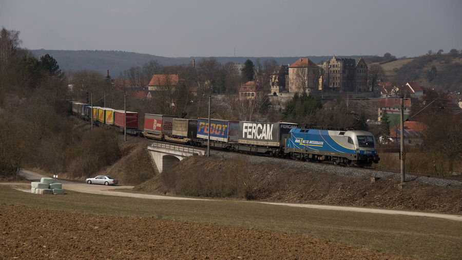 Eisenbahn Freight Train Güterzug Mittelweserbahn Railway Schloss Thüngen Weinberg