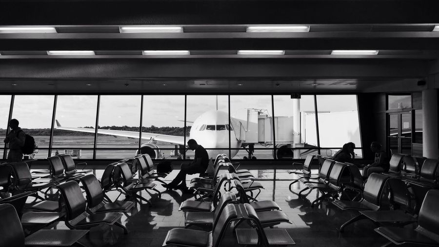 People sitting at airport