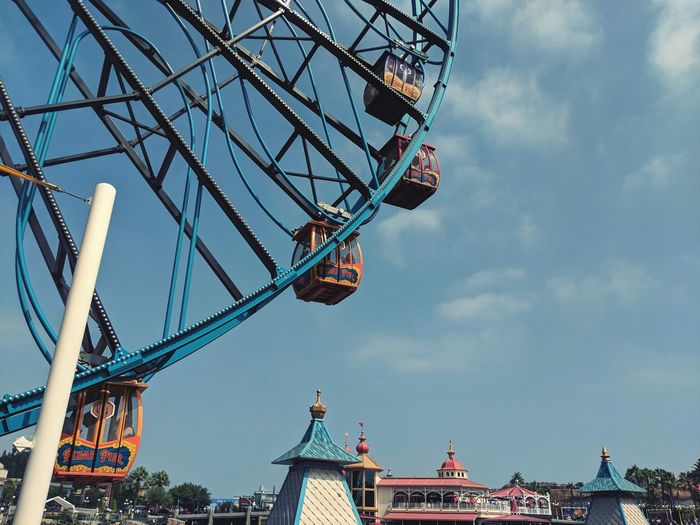 Enjoying a day alone. Disney Disneyland City Rollercoaster Big Wheel Chain Swing Ride Large