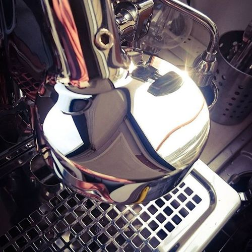 Chrome is love. Wholelottelove Coffeegeek E61 Expobar Officeleva