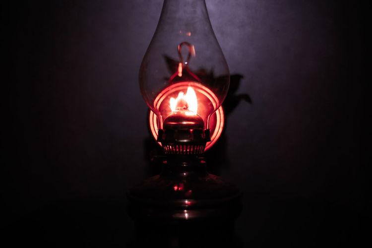 gas lamp. Gaslamp Gas Lamp Dark Black Background Illuminated Red Filament Lighting Equipment Close-up Light Painting Bulb Light Bulb Glowing Darkroom Plain Background Energy Efficient Energy Efficient Lightbulb Entertainment